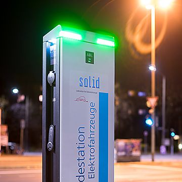 Public charging station of the Ladeverbund +